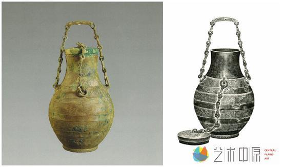 蟠螭纹提链壶及全形拓展品