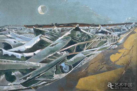 《死海》1940-1941年    图片来源:泰特美术馆