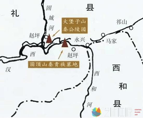 秦西垂陵区墓葬位置示意图