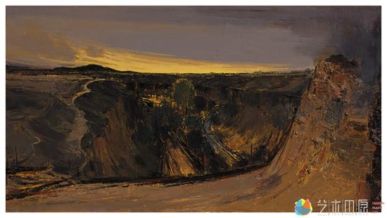 敦煌之榆林窟1 100cm x 180cm  布面油彩