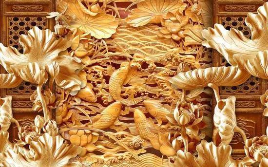 """采用自然形态的树根雕刻艺术品则为""""树根雕刻""""."""