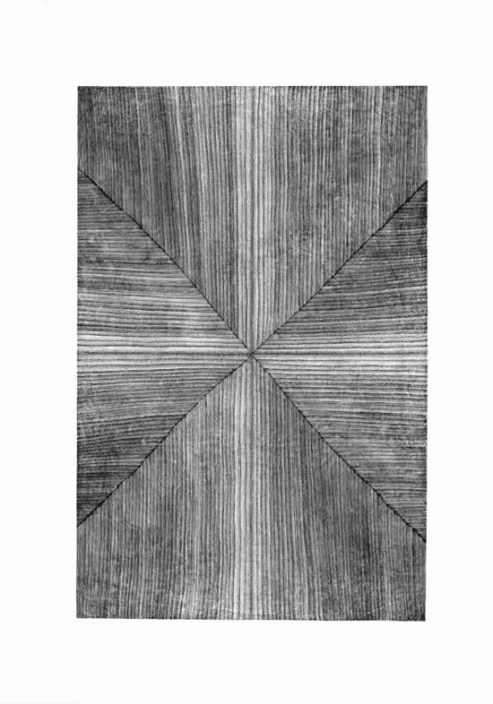 《四方之极》对话2014远古系列之二 70cmx46cm 2014年