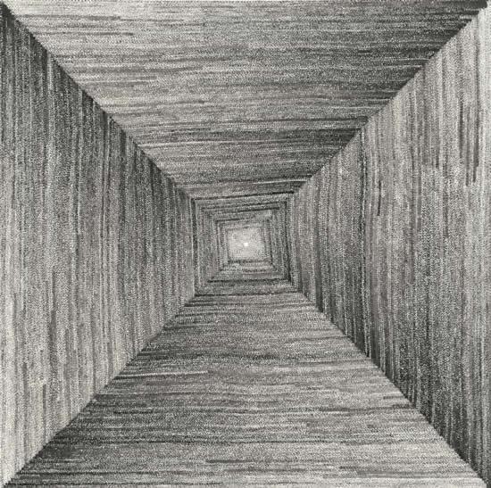 《四方之极》对话2014远古系列之一 69cmx69cm 2014年