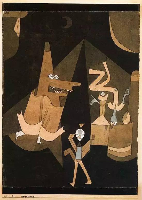 保罗·克利 Paul Klee - Witch scene
