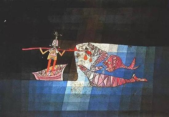 保罗·克利 Paul Klee - Battle scene from the comic fantastic opera 'The Seafarer'