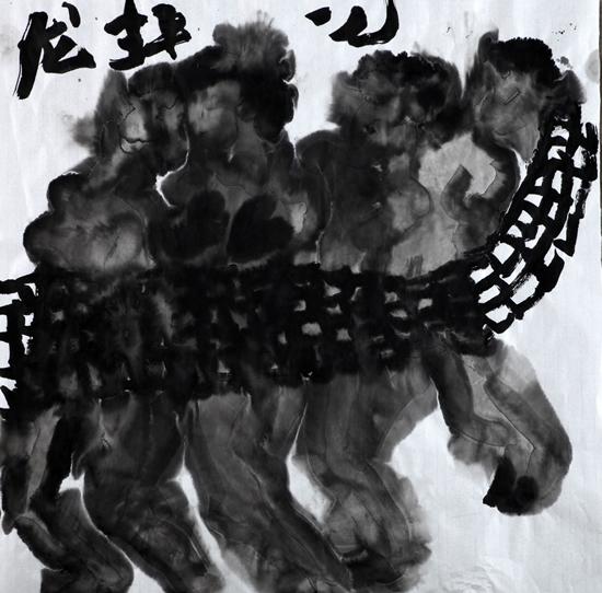 龙,2016,69 X 69 CM