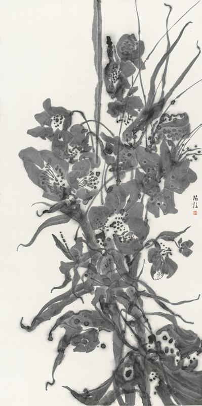 花卉系列之一 68cm X 135cm