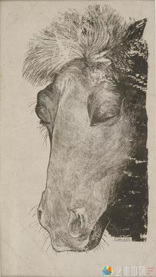 沙清泉《风尘》29×14.5cm    1946年 黑白锌版