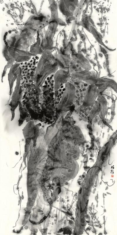 水墨 丛生系列-硕果No.7 138x69cm
