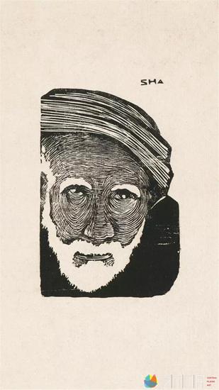 沙清泉《霜》10×6.5cm    1939年 黑白锌版