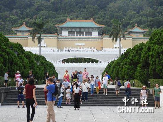 台北故宫大陆游客锐减,但日韩客增加。(中评社摄)