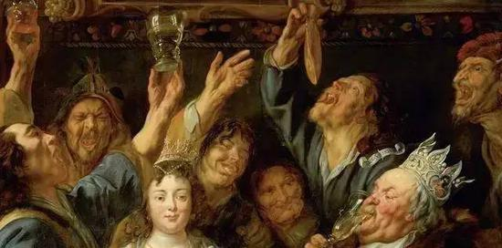 Detail from The Feast of the Bean King, Jacob Jordaens, 1640-1645 (Collection: The Kunsthistorisches Museum)