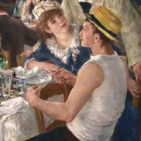 Detail from Luncheon of the Boating Party, Pierre-Auguste Renoir, 1880-1881 (Collection: The Phillips Collection)
