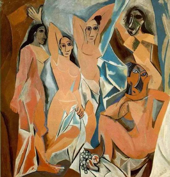 毕加索,The Young Ladies of Avignon,1907