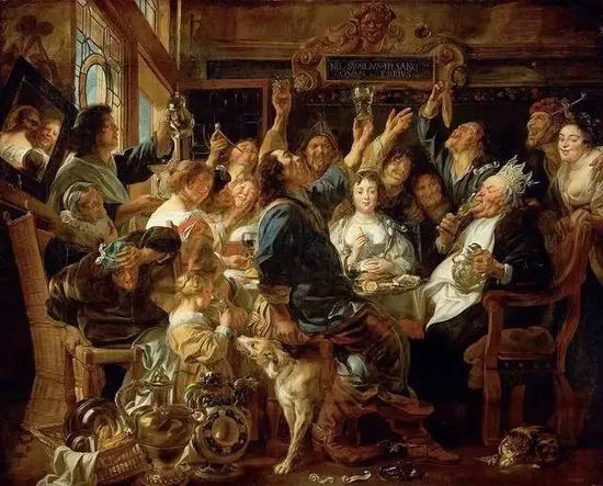 The Feast of the Bean King, Jacob Jordaens, 1640-1645 (Collection: The Kunsthistorisches Museum)