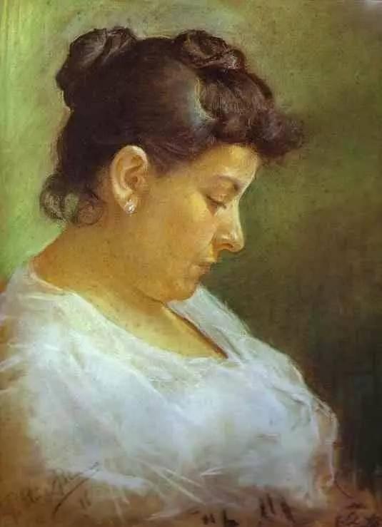 《母亲肖像》,1896