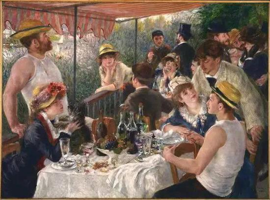 Luncheon of the Boating Party, Pierre-Auguste Renoir, 1880-1881 (Collection The Phillips Collection)
