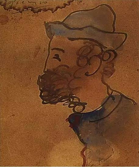 毕加索,Portrait of Ramon Pixot,1897