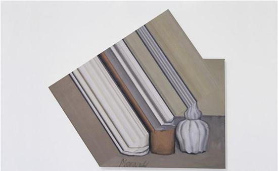 叶江-《Extended Morandi》-90×100cm-布面油画-2016