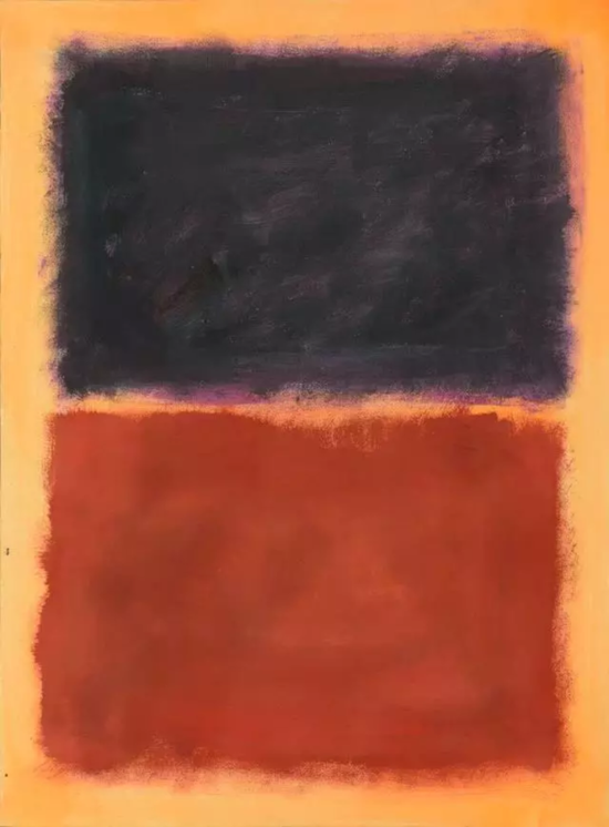 钱培琛仿造的罗斯科作品。这是诺德勒画廊出售的众多抽象表现主义伪作中的一幅。图片:Courtesy of Luke Nikas / the Winterhur Museum