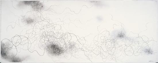 游·象 系列25,纸本水墨,365×145cm,2011年