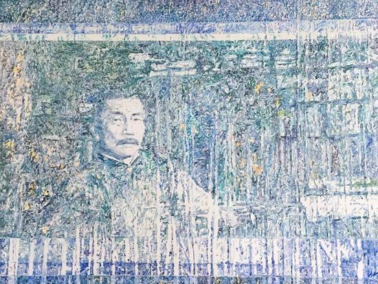 余旭鸿《夜光——鲁迅》,130×110cm,油画,2011