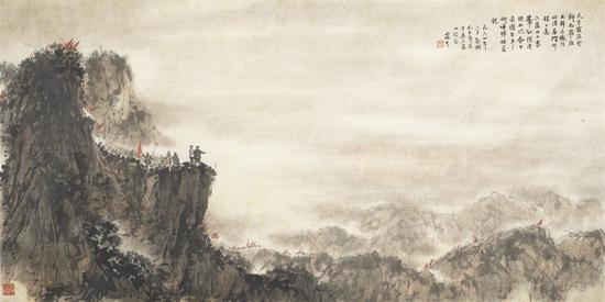 天高云淡……纸本 69×137 1964 中国美术馆藏