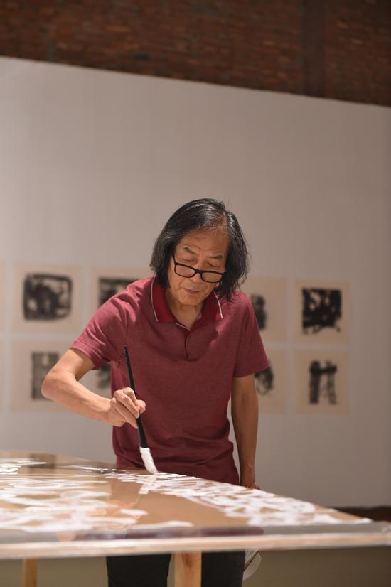 王冬龄为本次展览创作作品