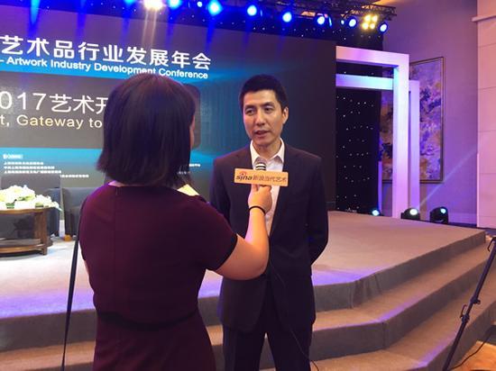 中国国家博物馆经营与开发部副主任蒋名未接受新浪当代全媒体记者采访