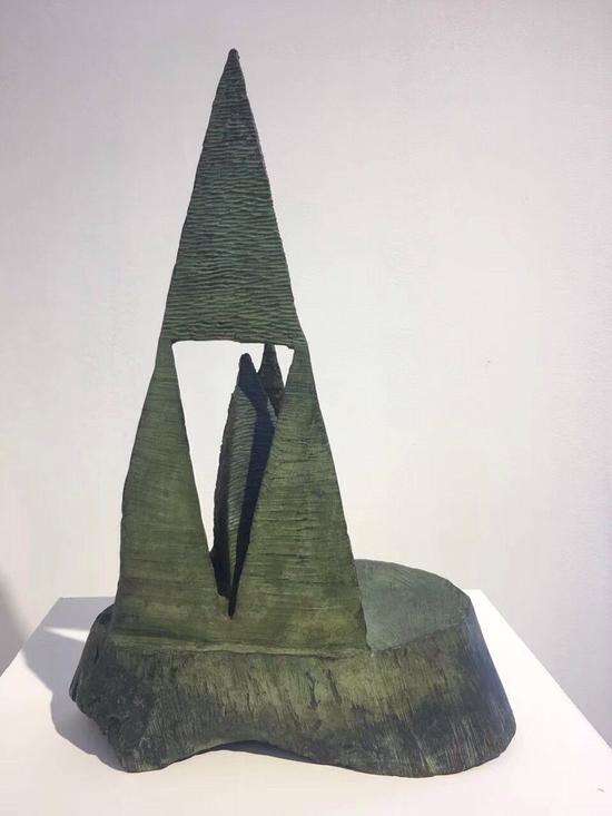 萧长正、山中山、青铜、50x30x20cm、2016