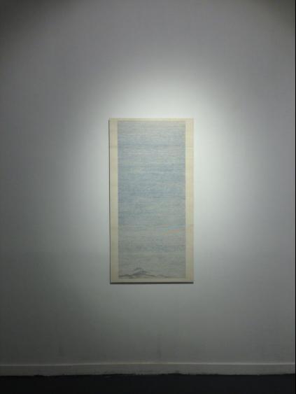 夏阳、清畅-念弘一法师、综合材料、128x65x2cm、2015