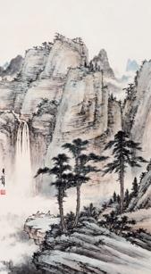 黄君璧《观瀑图》
