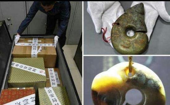 追回的被盗文物玉猪龙,价值100万―300万元人民币