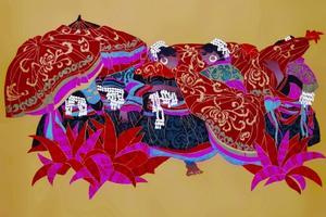 美术太阳伞(版画) 45×60厘米 1998年 郭巍