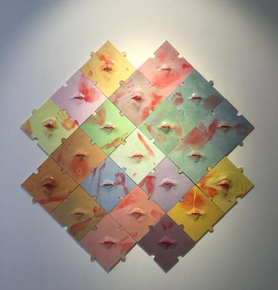 韦天瑜、痕迹、综合材料、160cmx160cm、2017