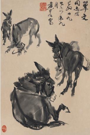 黄胄《五驴图》