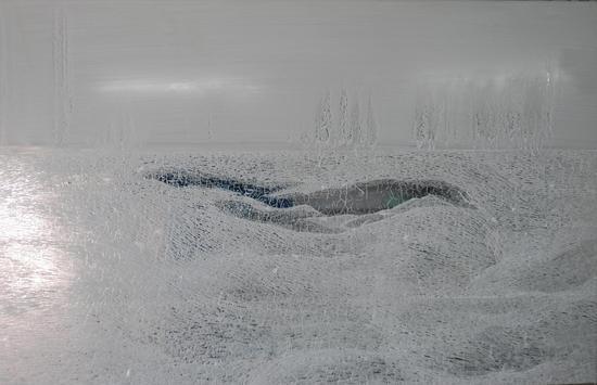 月牙泉 60.120cm 镜面油画 2014年