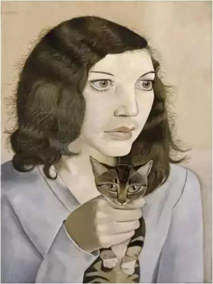女孩与小猫