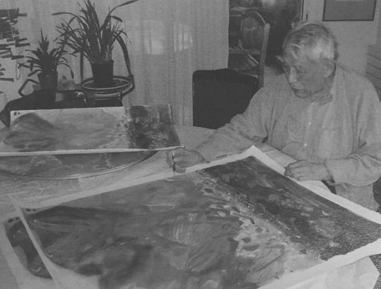西泠网拍八月夏季大拍 朱德群(1920-2014)金秋 纸本石版画