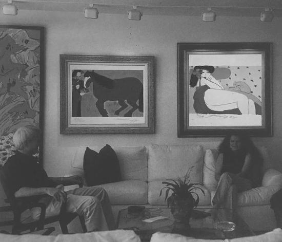 西泠网拍八月夏季大拍 丁雄泉(1920-2010)蓝色的马 纸本石版画