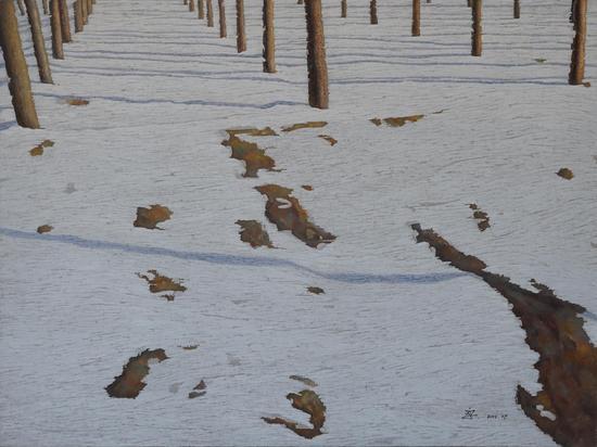冬日暖阳1  布面油画 90x120cm 2015年