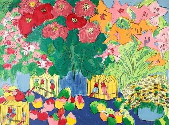 西泠网拍八月夏季大拍 丁雄泉(1920-2010)生生不息 纸本石版画
