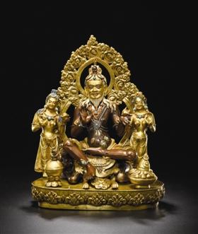 西藏17世纪大成就者萨惹哈组像,在中国嘉德2017春拍中,以724.5万元成交