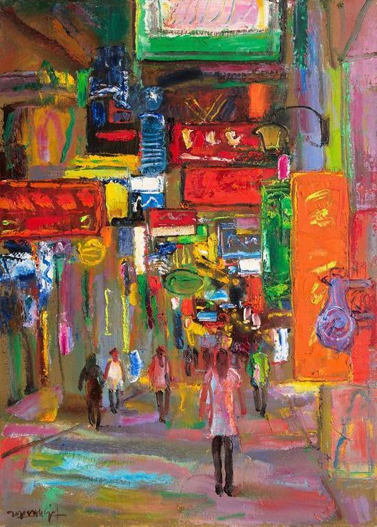 《夜曲》,2010年, 50×70cm,中国美术馆馆藏