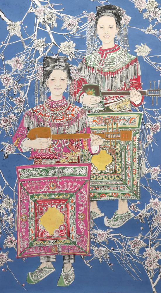 西江苗情-李艺华-138×69cm-纸本设色