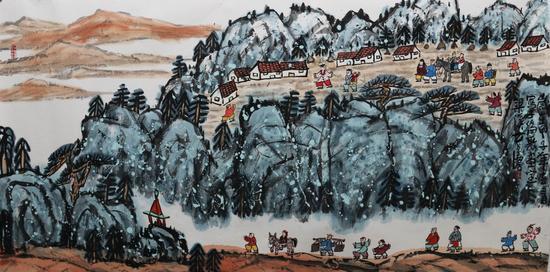 春山-方召麐-197×98cm-纸本设色