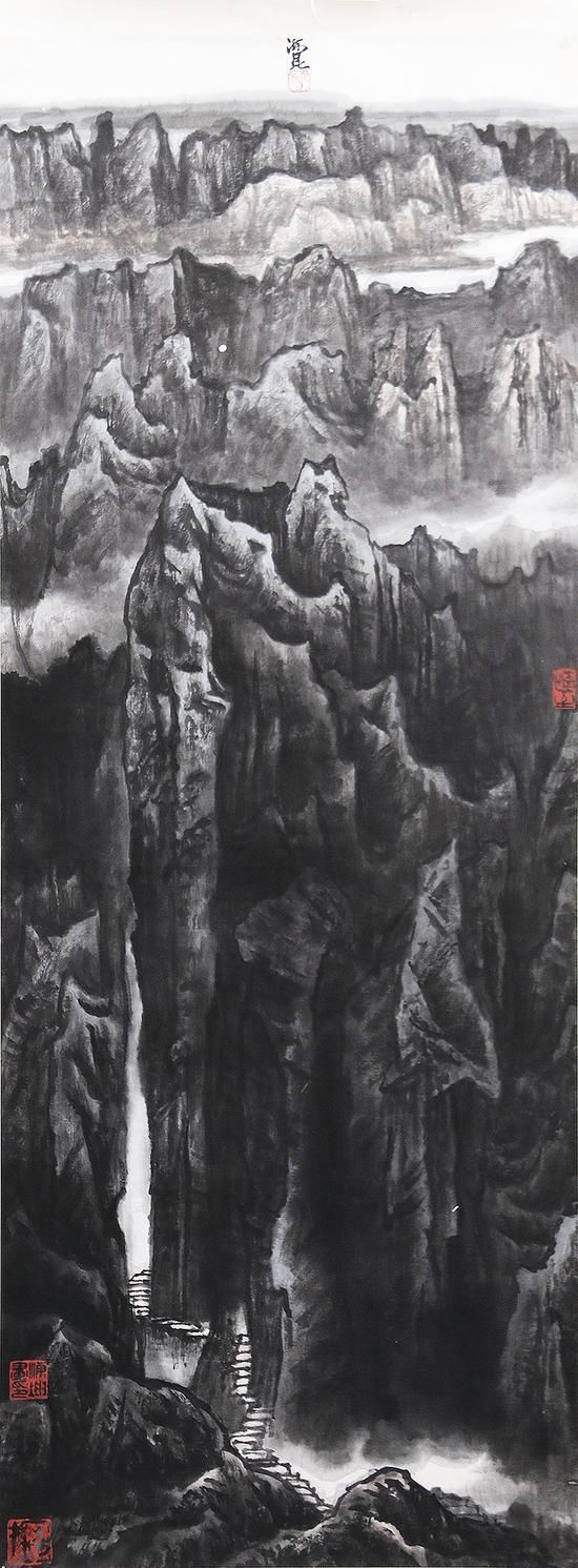 土林奇观-王海鲲-137×51cm