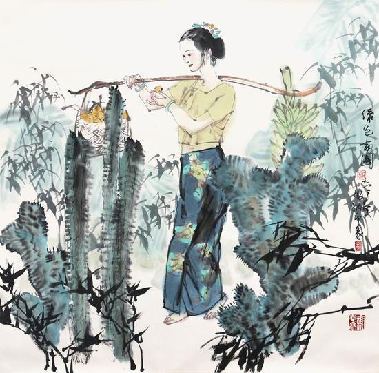 绿色家园-谢志高-69×69cm-纸本设色