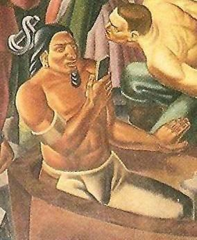 80年前壁画现惊人一幕 美洲土著疑似玩手机