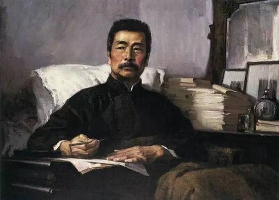 汤小铭《永不休战》 1972年 布面油画 108cm×140cm 中国美术馆藏